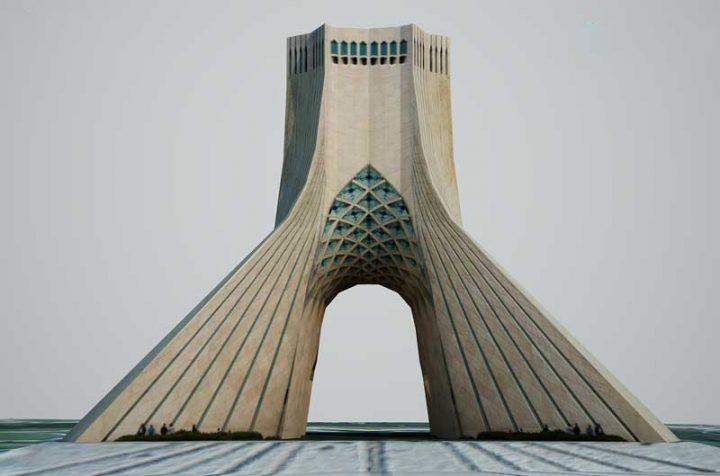 دانلود مدل آماده تری دی مکس برج آزادی تهران