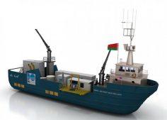 مدل سه بعدی کشتی
