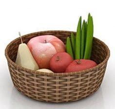 دانلود مدل سه بعدی سبد میوه