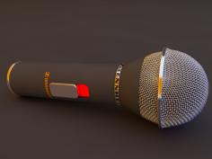 مدل سه بعدی میکروفون