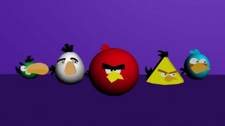مدل سه بعدی angry birds
