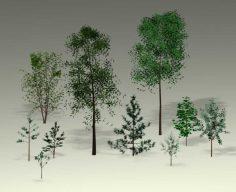 دانلود مجموعه مدل سه بعدی درخت