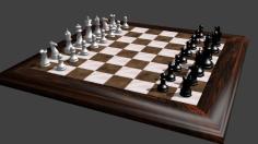 مدل سه بعدی میز شطرنج