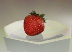 مدل سه بعدی توت فرنگی